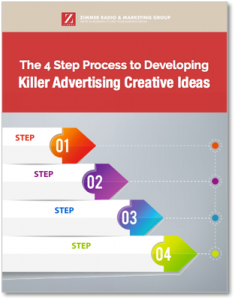 Four step process to developing killer advertising ideas