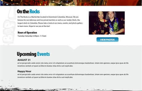 On the Rocks website concept