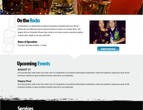 On The Rocks Website Design