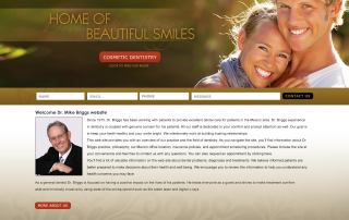 Dr Mike Briggs Dentistry Website Portfolio
