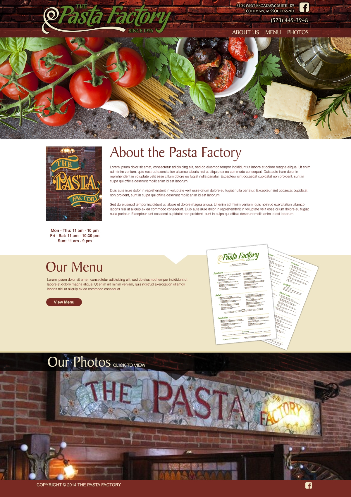 The Pasta Factory in Columbia Missouri.