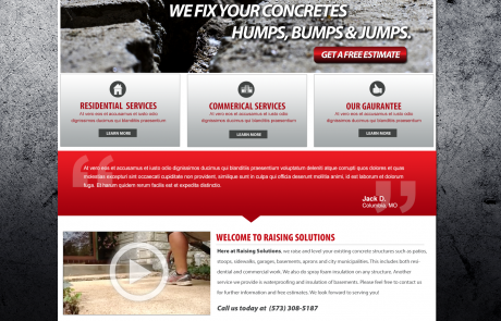 Raising Solutions L.L.C. website concept by Zimmer Radio & Marketing Group