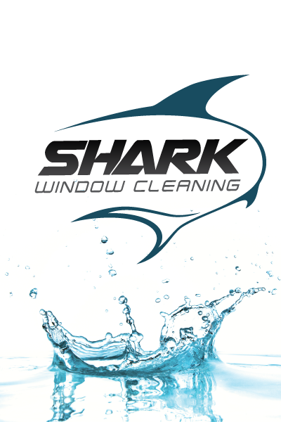 Shark Window Cleaning logo and flyer designed by Zimmer Radio & Marketing Group
