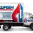 Exterior truck wrap for Wash Authority residential and commercial window cleaning.